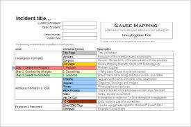 Root Cause Analysis Excel Template Analysis Templates 28 Free Word Excel Pdf Format