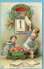 new year s postcards vintage new years postcard for free christmas toys arielle