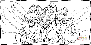 hyena trio coloring page free printable coloring pages