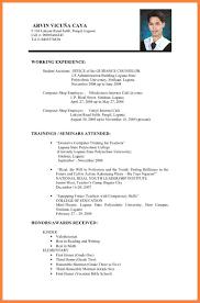 curriculum vitae exles for students pdf files spectacular curriculum vitae format pdf file about cv resume