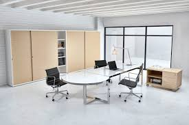 White Glass Desks by