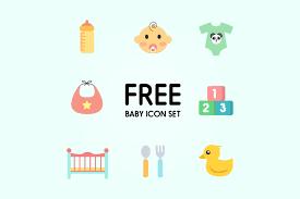 baby icon set free design resources