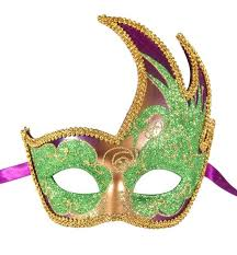 green mardi gras mask venetian masquerade party mardi gras mask