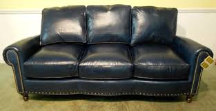 furniture gorgeous details on blue leather sofa with fluffy