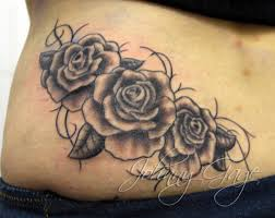 gaga style roses and vines tattooed by johnny at t flickr