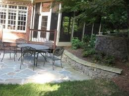 Retaining Wall Patio Charlotte Nc Stone Patio And Double Retaining Wall Patios