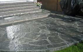 Patio Stones Canada Glamorous Grass With Paver Patio Designs Tags Cement Patio