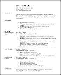 Retail Merchandiser Resume Sample by Free Professional Fashion Assistant Buyer Resume Template Resumenow