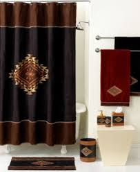 Curtain Designer by Maroon Shower Curtain Set Retro Shower Curtain Designer Shower