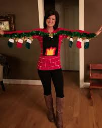 human fireplace sweater