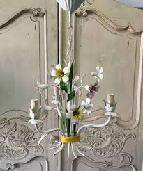 Tole Chandelier French Vintage Floral Tole Chandelier I195 Bailey U0026 Co French