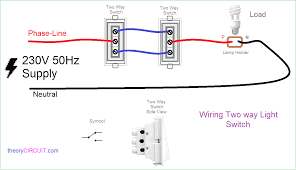 wiring diagram for 2 way light switch in picture of new gang