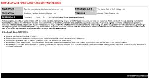 ap and fixed asset accountant cover letter u0026 resume