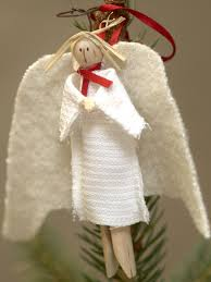 clothes pin angel tree ornament hgtv