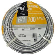 afc cable systems 6 1 x 100 ft bare armored ground cable 1302 30