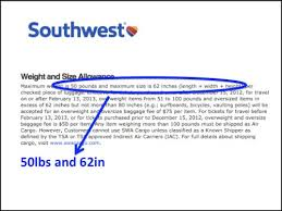 southwest baggage fees southwest airlines over weight bag memory point your point for