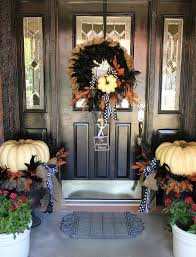 Folk Art Halloween Decorations 25 Elegant Halloween Decorations Ideas Pumpkin Wreath Front