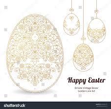 floral ornamental eggs your design stock vector 395405512