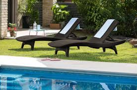 Pool Chaise Lounge Chairs Keter 2pc Rattan Outdoor Chaise Lounge Chairs Patio Table