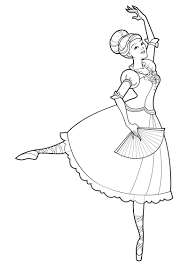 barbie and the 12 dancing princesses coloring page only coloring