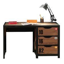 bureau bois noir bureau bois et noir bureau bois et metal bureau bois metal bureau