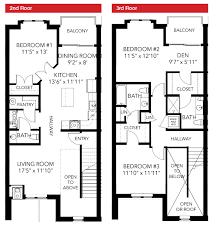 3 storey townhouse floor plans bedroom bedroom bath floor plans for ranch homes house open
