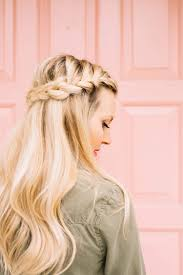 plait at back of head hairstyle french braid half crown a beautiful mess
