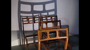 found midcentury modern danish d scan teak dining chairs youtube