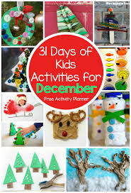 31 days of kids activities for december free activity calendar
