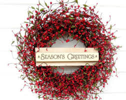 Decorated Christmas Wreaths by Holiday And Christmas Wreaths Etsy