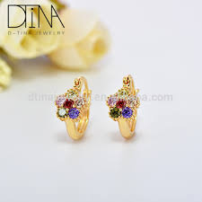 cheap earrings india s cheap wholesale artificial gold plated color zircon