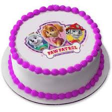 Paw Patrol Pink Cake Supplies