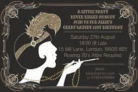 gatsby invitations 10 x great gatsby personalised birthday party invitations thank