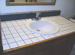 How To Remove A Bathroom Vanity How To Turn Your Tile Counter Top In To Faux Sandstone Without