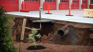 sinkhole at palmyra fire station not caused by geological issue