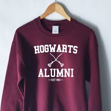 harry potter alumni shirt harry potter hogwarts alumni sweatshirt in maroon hearts