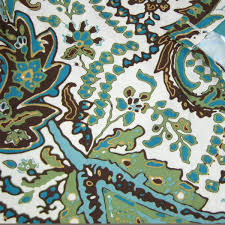 Blue Paisley Shower Curtain Target Home Blue Green Brown Floral Fabric Shower Curtain