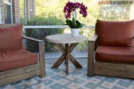 Concrete Side Table Diy X Brace Side Table W Concrete Top Free U0026 Easy Plans