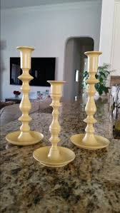 Valspar Satin Spray Paint - thrift store brass candlesticks spray painted using valspar satin