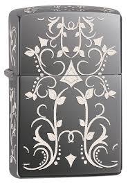 Why Won T My Zippo Light Amazon Com Zippo Filigree Black Ice Pocket Lighter Sports U0026 Outdoors