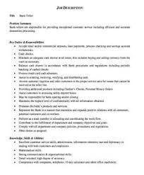 Teller Job Duties For Resume by Sample Professional Letter Formats Cover Letter Format Cover