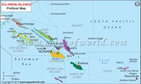 map of the islands map of solomon islands