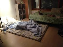 Bed On The Floor by Furniture Un Polish Wooden Bed With Storage Drawer Added Source