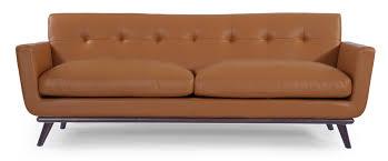 Corrigan Studio Luther Mid Century Modern Vintage Leather Sofa - Sofa mid century modern