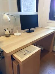 Restoration Hardware Office Desk Malm Desk With Pull Out Panel Pottery Barn Bedford Restoration