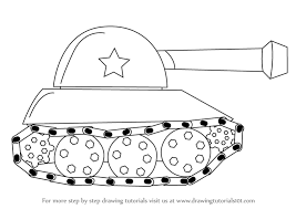 learn how to draw a tank for kids military step by step