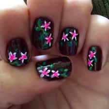 diy plumeria nail art manicure for a tropical or hawaii theme