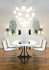 White Chairs For Dining Table Modern Art For Dining Room 10293