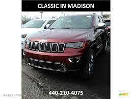 jeep grand cherokee limited 2017 red 2017 velvet red pearl jeep grand cherokee limited 4x4 119436050