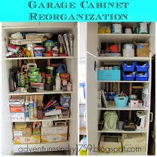 adventures in diy garage organization inside the cabinets